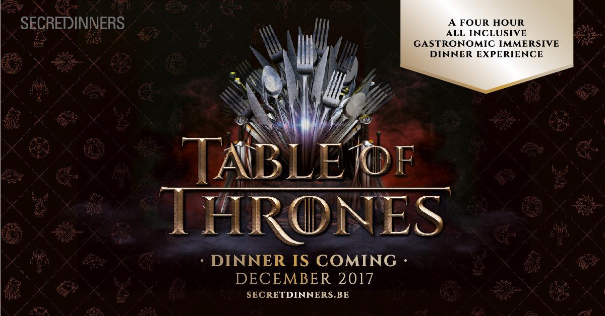 TableOf Thrones Secret Dinners VIP arrangement