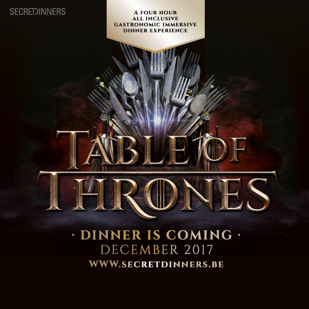 TableOf Thrones Secret Dinners VIP arrangement